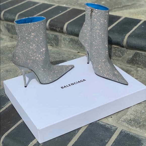 Balenciaga Knife Glitter Boots